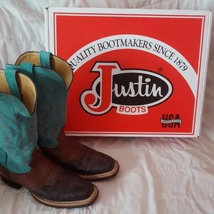 Women's Justin Smooth Quill Ostrich Boots